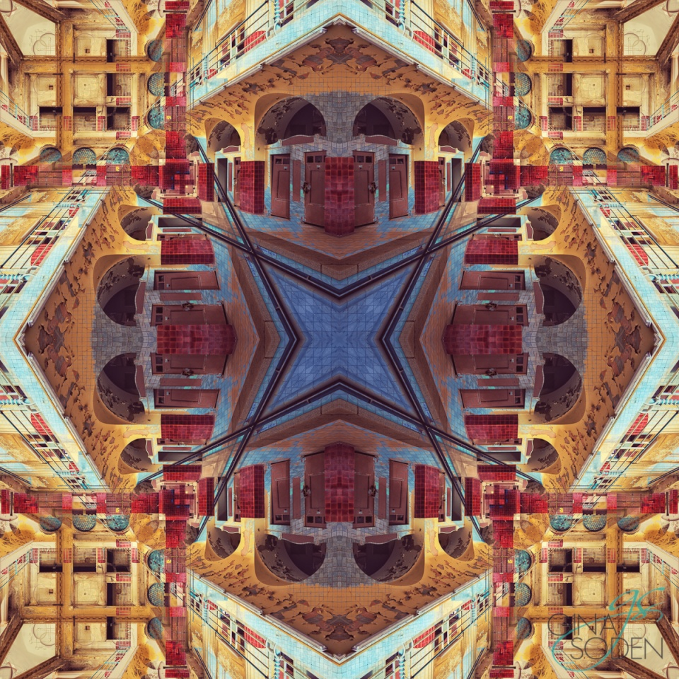 Gina Soden London Fine Art Photography abstract Kaleidoscope Pool